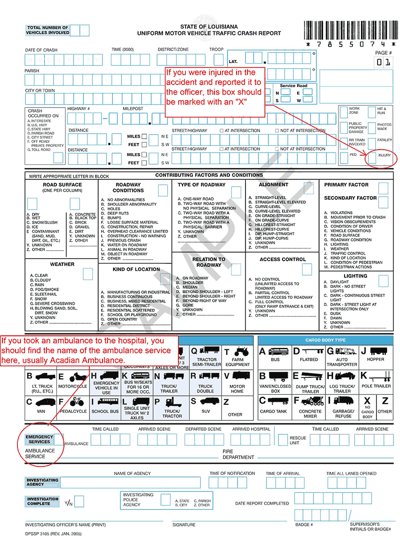 Baton Rouge Car Accident Report With Injuries
