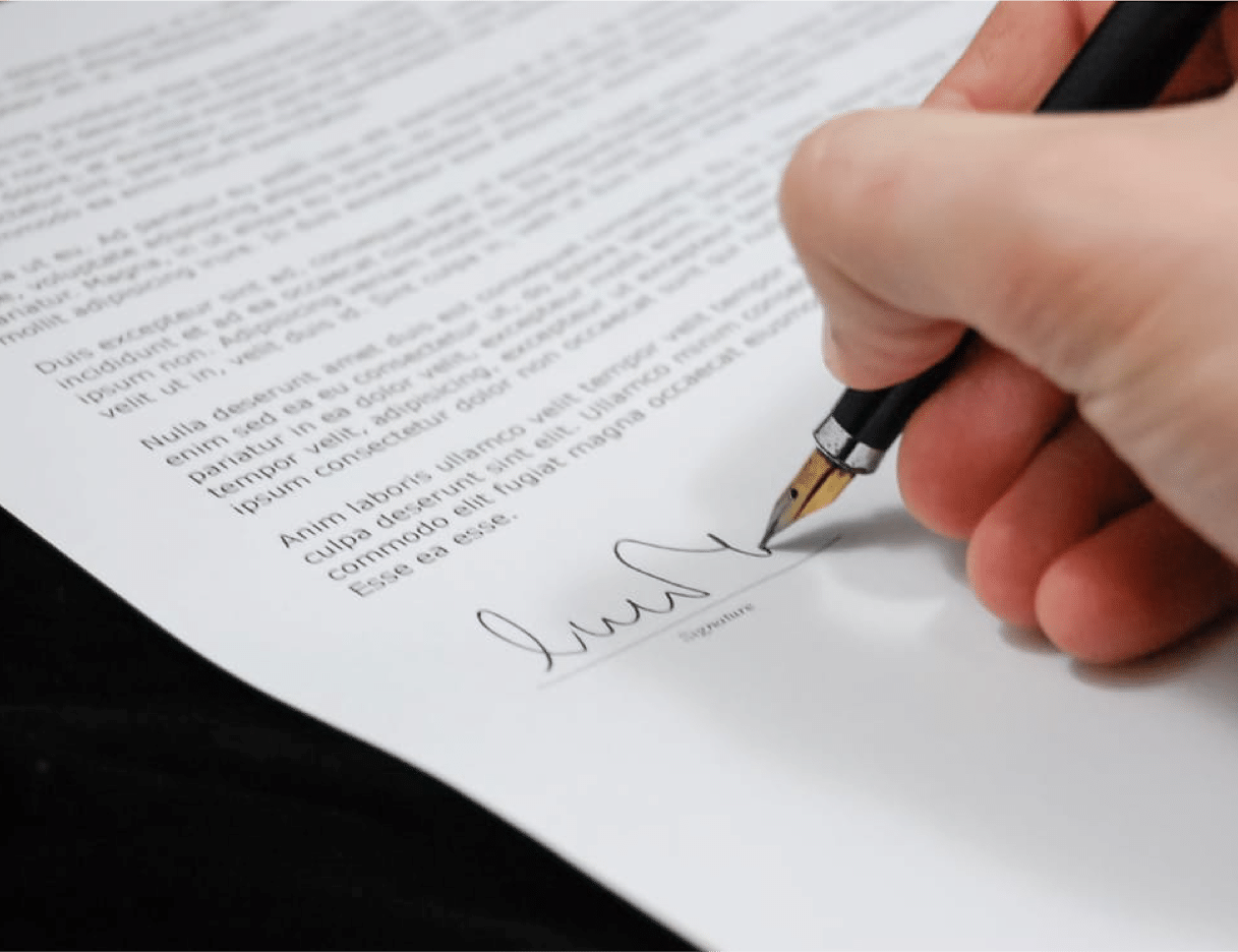 signing insurance form
